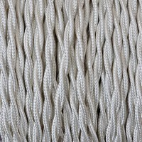 Electrical Twisted Cable 2X o 3X 10 meters in Fabric Ivory