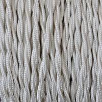 Cavo Elettrico 2X o 3X 5 metri Treccia in Tessuto Colore Avorio