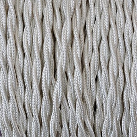 Electrical Twisted Cable 2X o 3X 5 meters in Fabric Ivory
