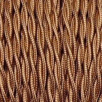 Electrical Twisted Cable 2X o 3X 5 meters in Fabric Bronze