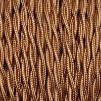 Cavo Elettrico 2X o 3X 5 metri Treccia in Tessuto Colore Bronzo