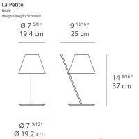 Artemide tolomeo micro lampada da tavolo rosso a011810 for La lampada srl