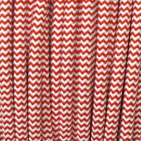 Cavo Elettrico 2X o 3X 5 metri tondo in Tessuto Colore Bianco e Rosso