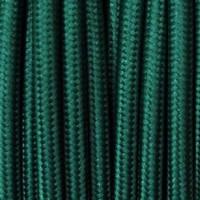 Cavo Elettrico 2X o 3X 5 metri tondo in Tessuto Colore Verde Petrolio