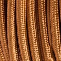 Cavo Elettrico 2X o 3X 5 metri tondo in Tessuto Colore Bronzo
