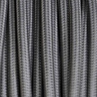 Electrical Round Cable 2X o 3X 5 meters in Fabric Grey