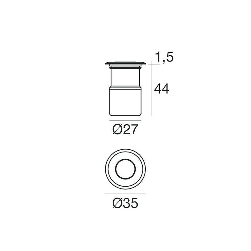 N.50 LED TONDO D=3 mm verde