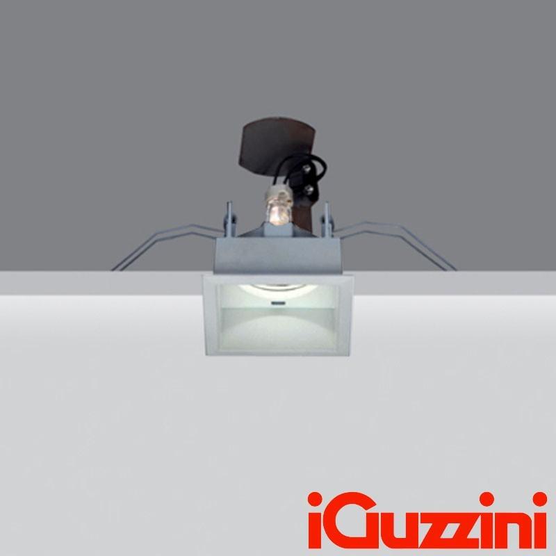 iGuzzini MA03.015 Deep Laser Square Recessed Spotlight 50W GU10 Halogen Grey