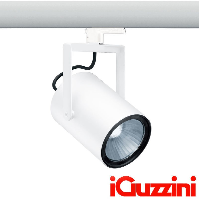 iGuzzini MK99.701 LED Front Light Proiettore da Binario 27W Bianco - Diffusio...