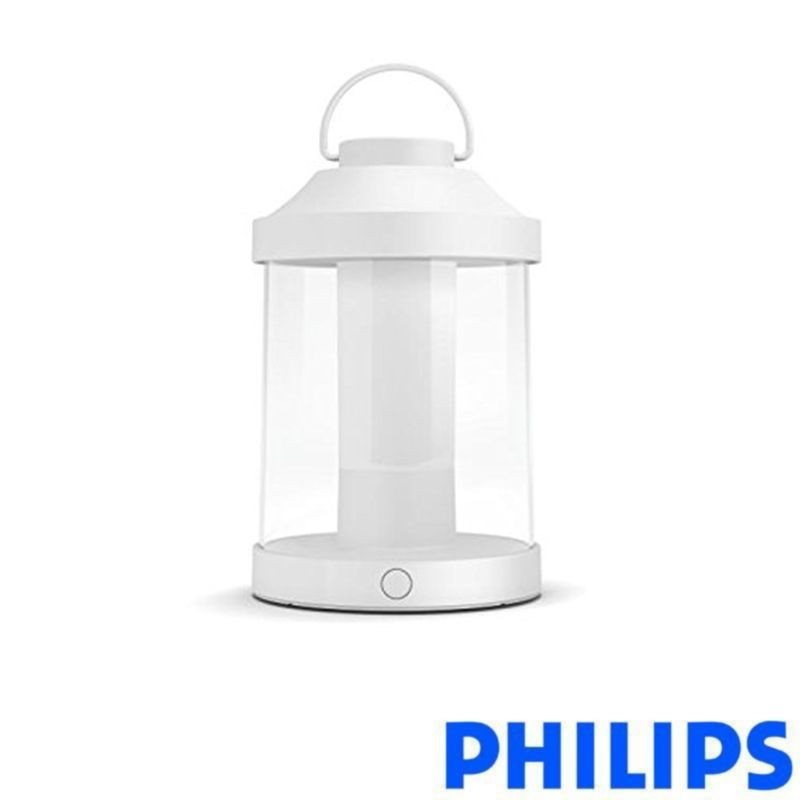Philips Abelia Led Outdoor Table Lamp Rechargeable White
