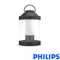 Philips Abelia LED Outdoor Table Lamp Rechargeable Black USB