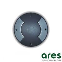 Ares Vega G9 Faretto da Incasso Bidirezionale Pavimento Esterno IP67 Nero
