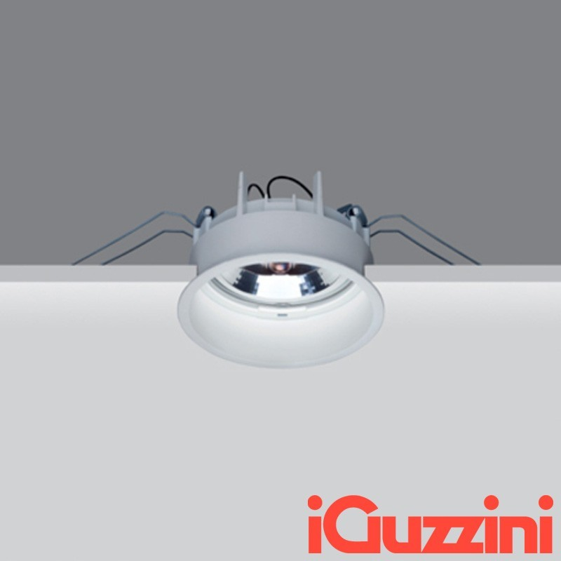 IGuzzini M981 Deep Laser spotlight Recessed Round Fixed white 75W Halogen G53