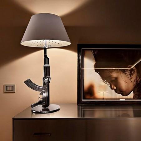 Flos Guns Table Gun Lamp Chrome F2954057 by Philippe Strack 2005