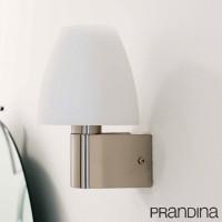 Prandina Ike W1 E14 60W Lampada da Parete Applique Vetro