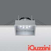 IGuzzini MA37 Deep Laser Grigio 12W LED Faretto incasso Quadrato