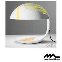 Martinelli Luce Cobra E27 Table Lamp Design by Giorgio Brogi