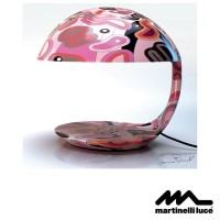 Martinelli Luce Cobra E27 Table Lamp Design by Massimo Farinatti