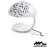 Martinelli Luce Cobra E27 Table Lamp Design by Marco Ghilarducci