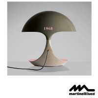 Martinelli Luce Cobra E27 Table Lamp Design by Angelo Micheli