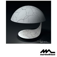 Martinelli Luce Cobra E27 Table Lamp Design by Paolo Orlandini