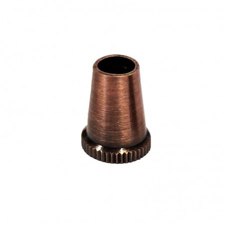 Cable clamp Clip M10x1 Single Copper color for rose in metal clamping
