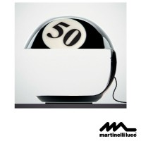 Martinelli Luce Cobra E27 Table Lamp Design by Studio Lucchi & Biserni