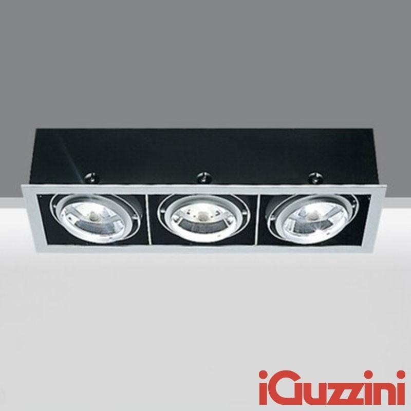 IGuzzini 8881 Frame 3 X 3 lights G53 LED recessed light