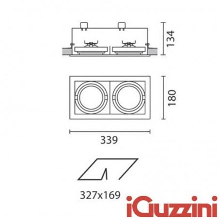 IGuzzini 8879 Frame 2 luci incasso luci 2 x G53 grigio