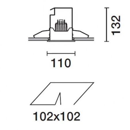 IGuzzini 2689 Deep Frame gray Square recessed adjustable spotlight