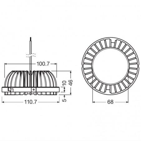 Osram PrevaLED COIN 111 G1 22.5W 32V 830 3000K 700 mA 1800 lm 24° Lamp AR111