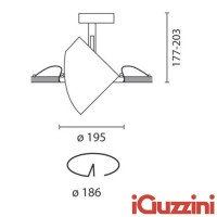 IGuzzini 8324 Pixel Grey Faro Recessed Metal Halide G12 35-70-150