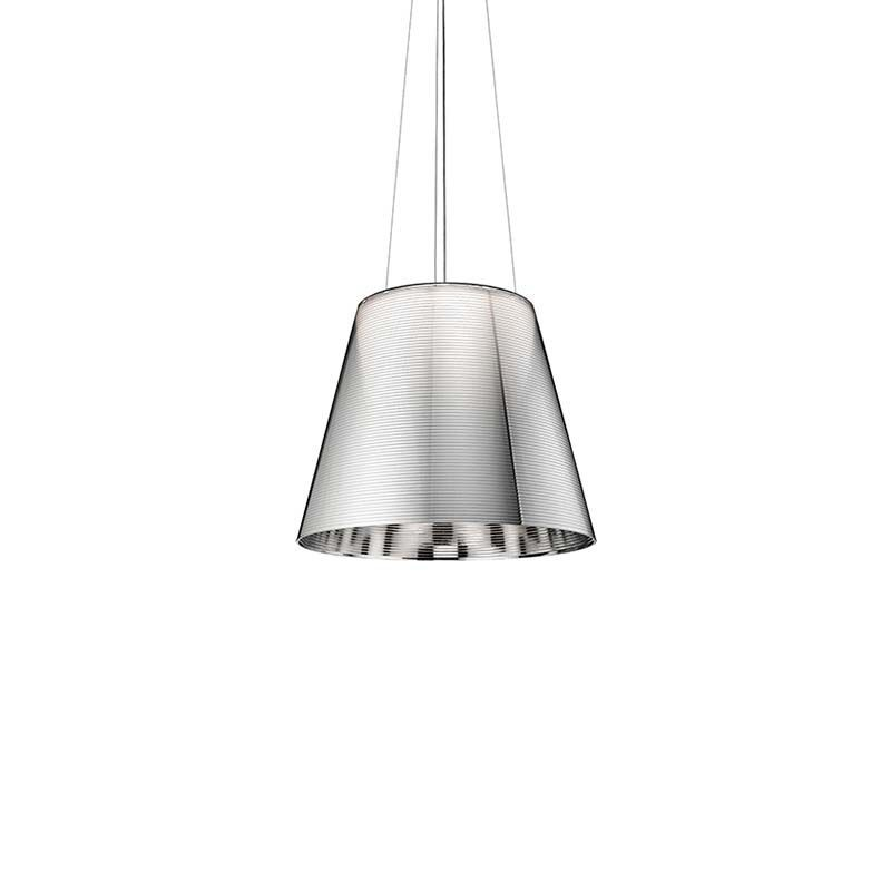 Philippe Starck Lighting Product Flos Ktribe S3 Suspension Pendant Lamp Silver Fumèe Transparent Bronze Diffusione Luce Srl Flos Ktribe S3 Suspension Pendant Lamp Diffused Lighting Chandelier