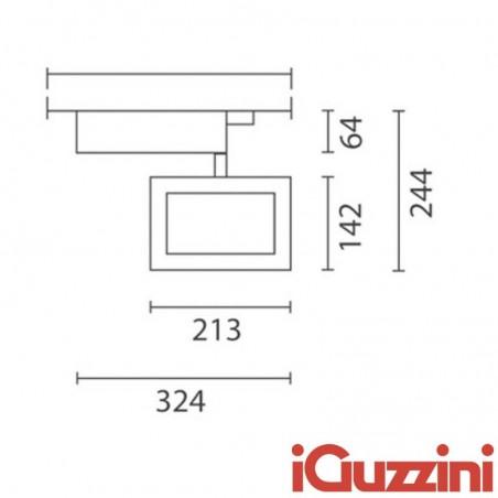 IGuzzini 4817.015 Parallel 150W RX7s Grigio proiettore ioduri metallici Binario