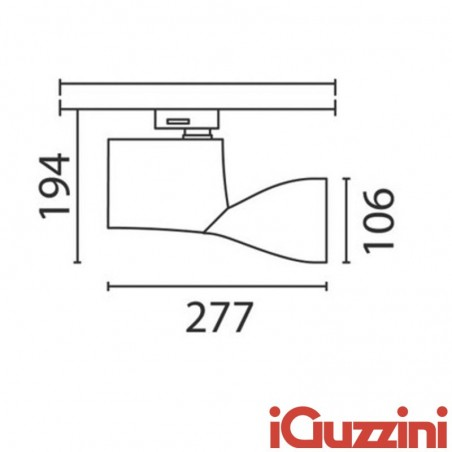 IGuzzini 6408 Lux medium track mounted projector Adjustable 70W G8.5