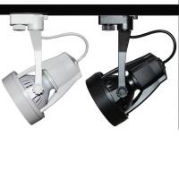 Proiettore Orientabile Floodlight E27 10W PAR30 LED 940 lm per Binario Trifase Nero