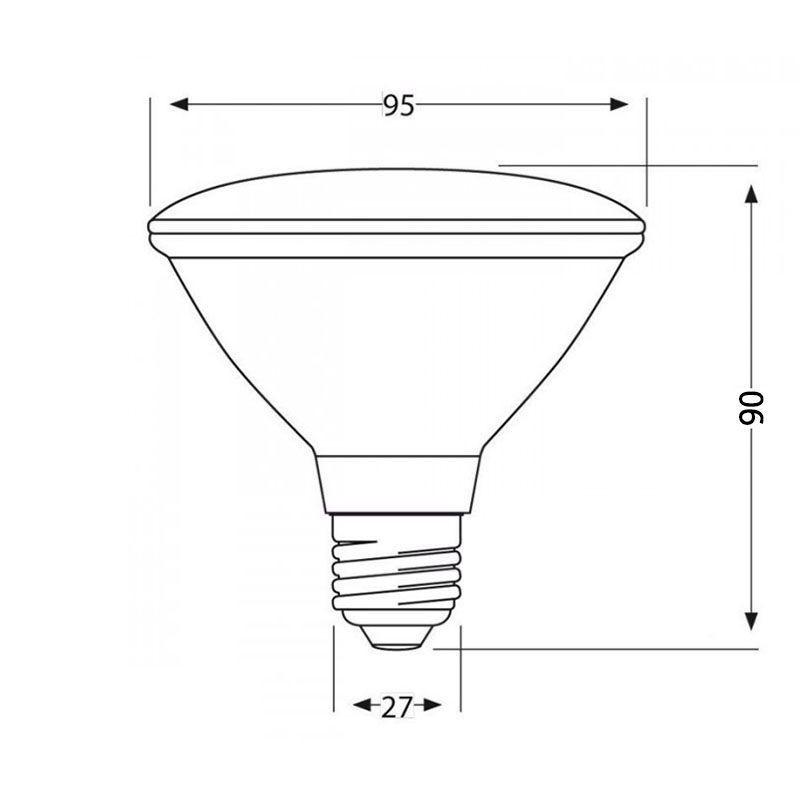 Adjustable track floodlight e27 14w par38 led 1400 lm for for Shot bot lighting