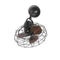 Faro 33450 Vedra Adjustable Ceiling Fan 4 Speed Wood Pales Old Gold