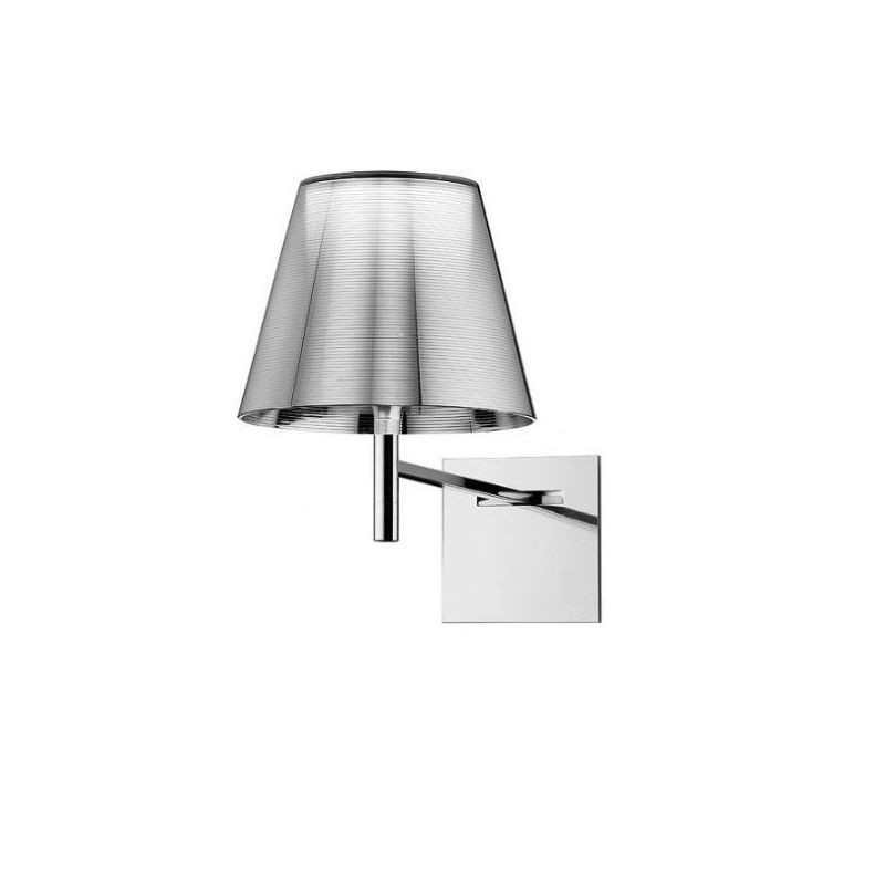 Flos Ktribe W Wall Lamp applique diffused lighting chrome-plated Zamak  alloy by Philippe Starck