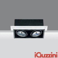 IGuzzini 8819 Frame due luci incasso indoor downlight 2x50W