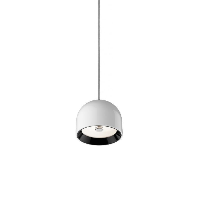flos wan s spot suspension lamp providing direct lighting g9 led or halogen diffusione luce srl