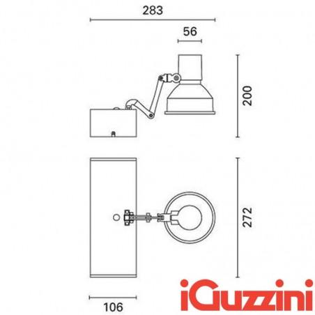 IGuzzini MB27.001 150W HIT G12 Proiettore Orientabile Ioduri Metallici