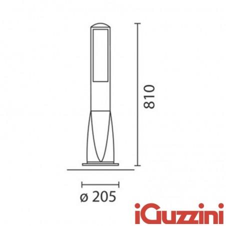 IGuzzini 7281 Path black bollard lamp 24W external Bollard black