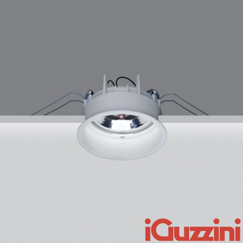 m975 iguzzini deep laser spotlight fixed white round recessed 75w halogen diffusione luce srl. Black Bedroom Furniture Sets. Home Design Ideas