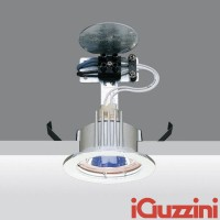 IGuzzini 8002.001 laser spotlight 50W round white recessed halogen GU5.3 led