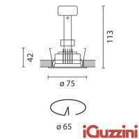 IGuzzini 8002.001 laser spotlight 50W round white recessed halogen GU5.3 led