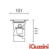 IGuzzini BA68 Linealuce 32W 3200K LED Recessed Ceiling light Wall Reccessed