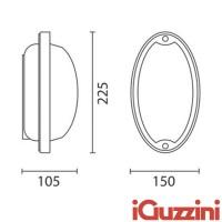 IGuzzini 7113 Ellipse applique plafoniera esterni lamp outdoor E27