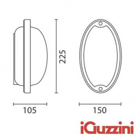 IGuzzini 7113 Ellipse applique external ceiling lamp outdoor E27