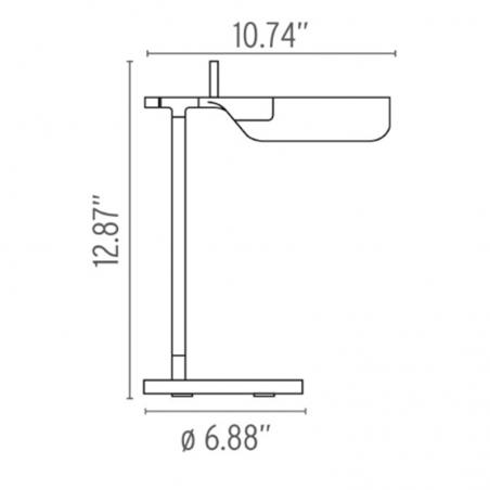 Flos Tab T LED Table Lamp White F6560009